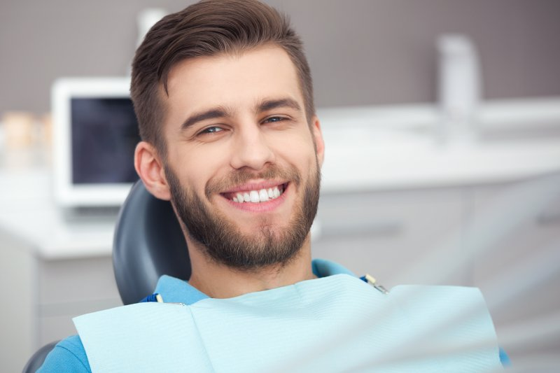 dental patient with bright smile