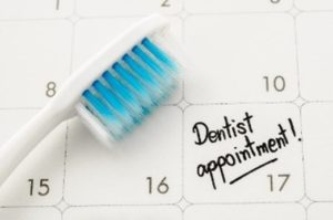 Appointment with dentist in Enterprise on calendar.